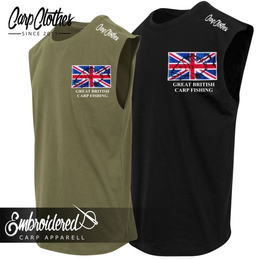 002 EMBROIDERED SLEEVELESS T-SHIRT
